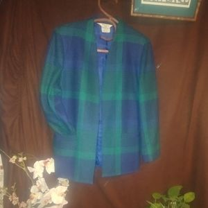 Tan jay vintage Blazer size 10 blue and green